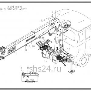 Схема расположения стикеров Soosan SCS 867