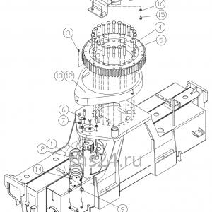 Станина(редуктор поворота и опорный подшипник) Dong Yang SS 1406