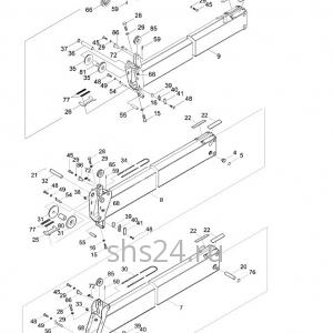 Стрела в разборе (5 секций) Kanglim KS 3105