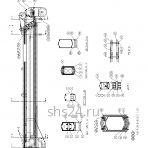 Стрела в сборе Kanglim KS734 (4 секции)