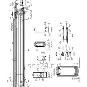 Стрела в сборе Kanglim KS735 (5 секции)