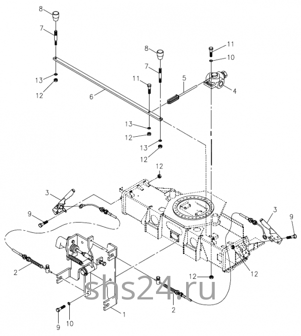 Управление дивертером (3-х ходовой кран) Kanglim KS 5206