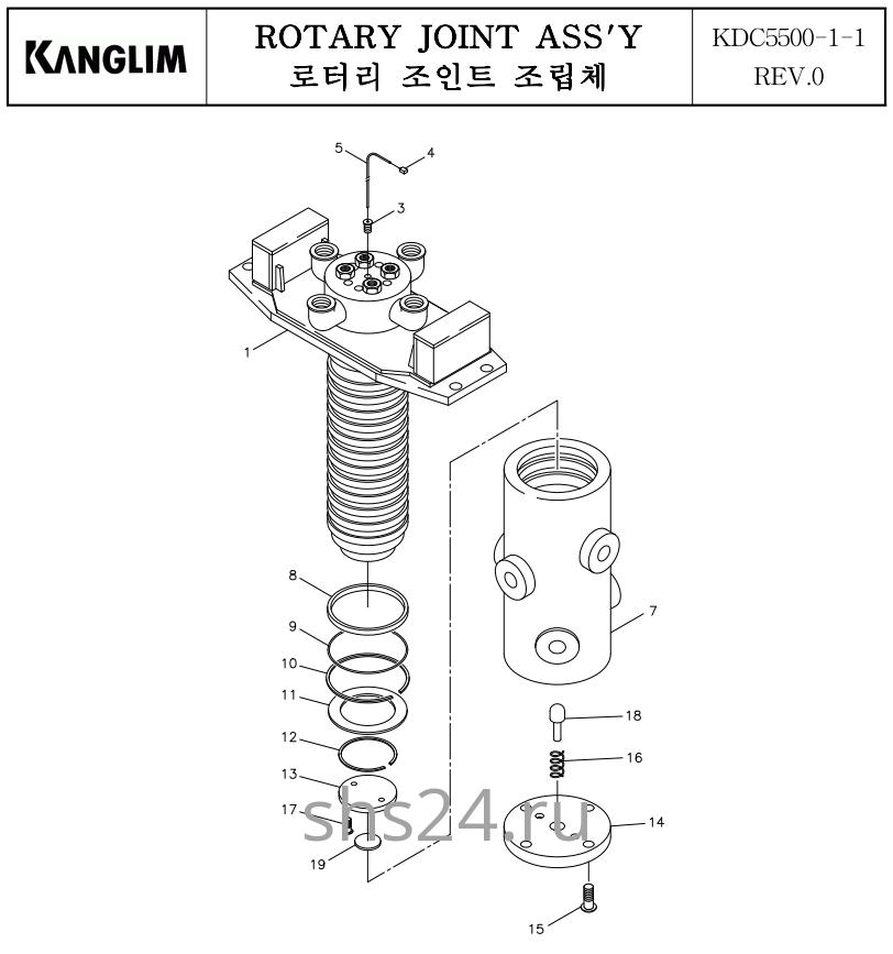 Вращающееся соединение (Гидроколлектор) Kanglim KDC 5600