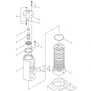 Вращающееся соединение (Гидроколлектор) Kanglim KS 2605