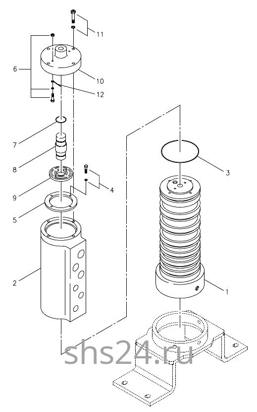 Вращающееся соединение (Гидроколлектор) Kanglim KS 5206