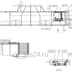 Блок рычагов акселератора(газа) DongYang 2036