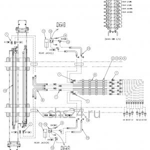 Гидравлическая схема цилиндров аутриггеров 2 DongYang 1926