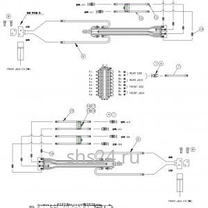 Гидравлическая схема цилиндров аутриггеров DongYang 1926