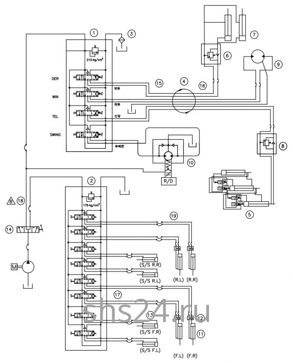 Гидравлическая схема потока(контур) DongYang 1926