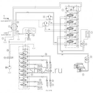 Гидравлическая схема(верхняя часть 2) DongYang 1506