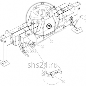 Опорно-поворотный подшипник (ОПУ) DongYang SS 1926