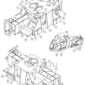 Ребра жесткости станины(базы) DongYang 2036
