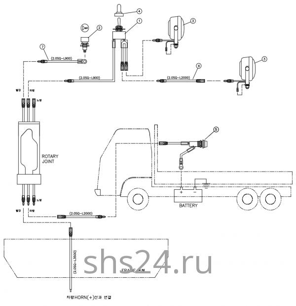 Схема электропроводки DongYang 1926