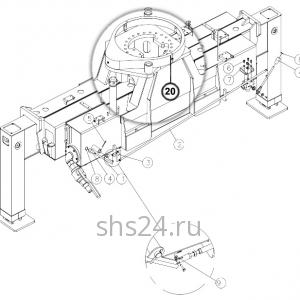 Станина(редуктор поворота и опорный подшипник) DongYang 2036
